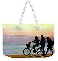 Cox Bay Bike Weekender Tote Bag