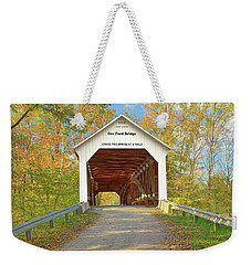 Cox Ford Covered Bridge Weekender Tote Bag