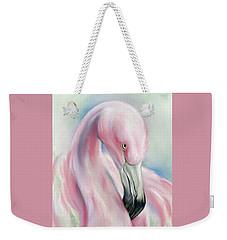 Coy Flamingo Weekender Tote Bag
