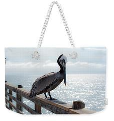Coy Pelican Weekender Tote Bag