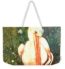 Weekender Tote Bag featuring the painting Coy by Therese Alcorn