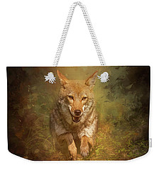 Weekender Tote Bag featuring the digital art Coyote Energy by Nicole Wilde
