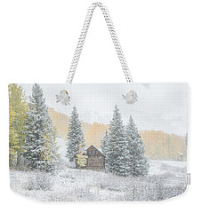 Weekender Tote Bag featuring the photograph Cozy Cabin by Kristal Kraft