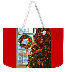 Cozy Christmas Weekender Tote Bag