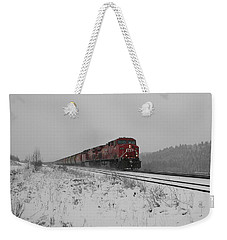 Weekender Tote Bag featuring the photograph Cp Rail 2 by Stuart Turnbull