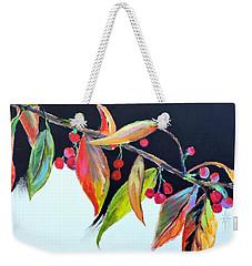 Crab Apple Weekender Tote Bag by Jodie Marie Anne Richardson Traugott          aka jm-ART
