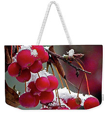 Crab Apples Snow Weekender Tote Bag