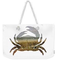 Crab Beach Weekender Tote Bag