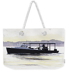 Crab Boat Slick Calm Day Chesapeake Bay Maryland Weekender Tote Bag