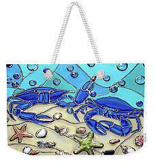 Crab Conversation Weekender Tote Bag