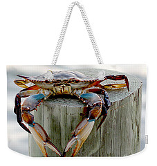 Crab Hanging Out Weekender Tote Bag by Luana K Perez