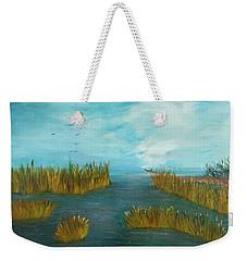 Crab Lady Landing In Big Lake Weekender Tote Bag