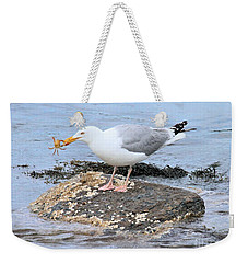 Crab Legs Weekender Tote Bag by Debbie Stahre