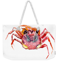 Crab Weekender Tote Bag by Suren Nersisyan