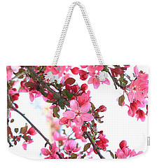 Weekender Tote Bag featuring the photograph Crabapple Beauty by Rick Morgan