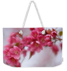 Weekender Tote Bag featuring the photograph Crabapple Blossom - Dark Pink by Diane Alexander