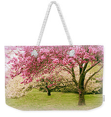 Weekender Tote Bag featuring the photograph Crabapple Confection by Jessica Jenney