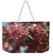 Crabapple In Spring Panoramic Weekender Tote Bag