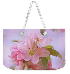 Crabapple Pink Weekender Tote Bag by MTBobbins Photography