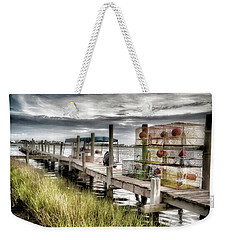 Crabber's Dock, Surf City, North Carolina Weekender Tote Bag