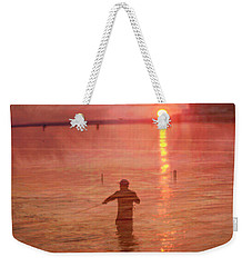 Crabbing At Chicks Beach Chesapeake Bay Va Beach Weekender Tote Bag by Suzanne Powers