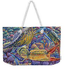 Crabby Weekender Tote Bag by David Joyner