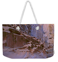 Crack Canyon Blue Wall Weekender Tote Bag