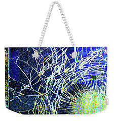 Weekender Tote Bag featuring the mixed media Crack by Tony Rubino