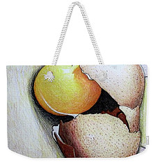 Cracked Egg Weekender Tote Bag by Mary Ellen Frazee