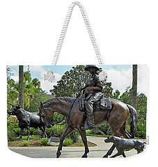 Cracker Cowboy And His Dog Weekender Tote Bag by D Hackett