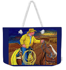 Cracker Cowboy Sunrise Weekender Tote Bag