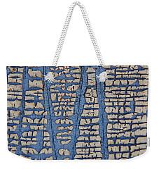 Crackled Blue White Paint Weekender Tote Bag