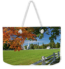 Weekender Tote Bag featuring the photograph Craftsbury Common Autumn by Alan L Graham
