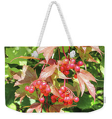 Cranberry Cluster Weekender Tote Bag by Jim Sauchyn