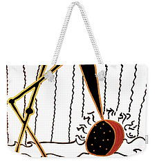 Weekender Tote Bag featuring the mixed media Crane by Clarity Artists