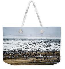 Crane Dance Weekender Tote Bag by Torbjorn Swenelius