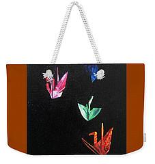 Crane Flight Weekender Tote Bag by LaVonne Hand
