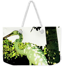 Crane In Need Of Shade Weekender Tote Bag