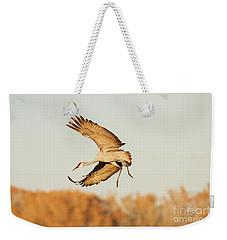 Crane Ready For Landing Weekender Tote Bag