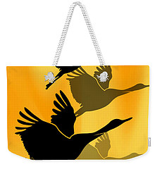 Cranes In Flight Weekender Tote Bag