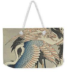 Cranes On Pine Weekender Tote Bag