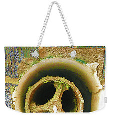 Weekender Tote Bag featuring the mixed media Crank by Tony Rubino
