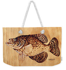 Crappie Weekender Tote Bag by Ron Haist