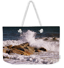 Crashing Surf On Plum Island Weekender Tote Bag