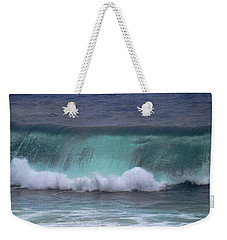 Crashing Wave Weekender Tote Bag by Pamela Walton
