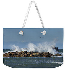 Crashing Waves And Gulls Weekender Tote Bag