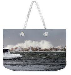 Crashing Waves Weekender Tote Bag