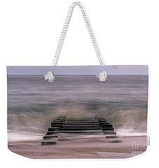 Crashing Waves In Rehoboth Weekender Tote Bag by Rob Sellers