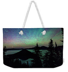 Weekender Tote Bag featuring the photograph Crater Lake Airglow by Cat Connor