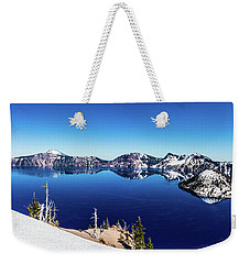 Weekender Tote Bag featuring the photograph Crater Lake by Jonny D